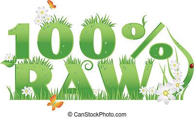jadło, 100%, zielony, surowy