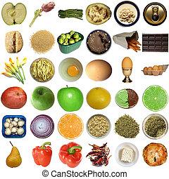 jadło, collage, odizolowany