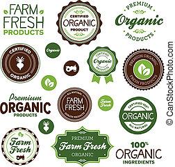 jadło, etykiety, organiczny