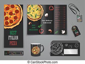 jadło, kawiarnia, pizza, broszura, menu