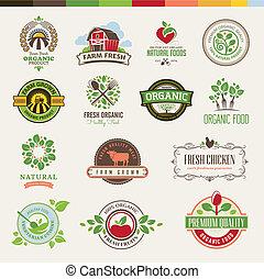 jadło, komplet, organiczny, symbole