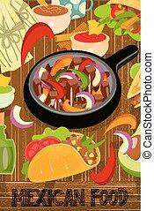 jadło, menu, meksykanin
