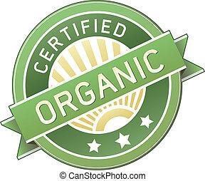 jadło, produkt, organiczny, albo, etykieta