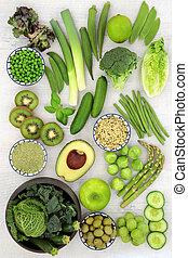 jadło, wspaniały, warzywa, owoc, zielony