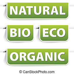 jadło, zielony, bookmarks, komplet, organiczny