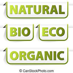 jadło, zielony, bookmarks, organiczny