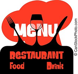 jadłospisowy szablon, restauracja