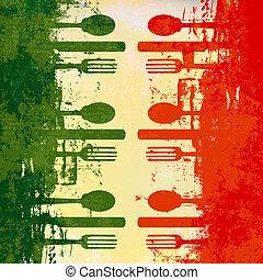 jadłospisowy szablon, włoski
