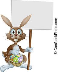 jaja, wielkanocny królik, znak