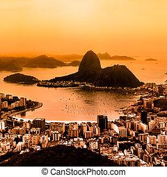 janeiro, brazylia, od, rio