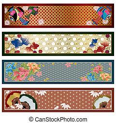 japońskie chorągwie, tradycyjny