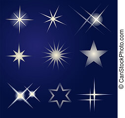 jasny, komplet, gwiazdy