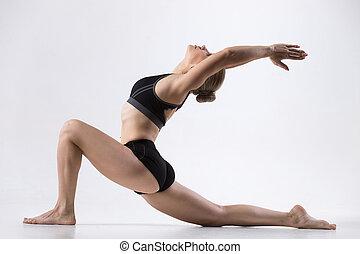 jeździec, koń, yoga upozowują