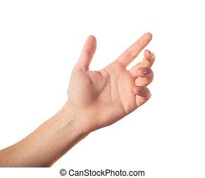 jeden, do góry, ręka