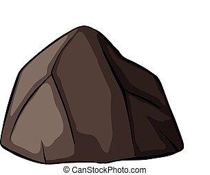 jeden, szary, skała