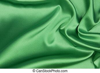 jedwab, zielony, albo, tło, szmaragd