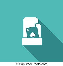 jego, illustration., sleeve., do góry, szachrajski, wektor, play., karta