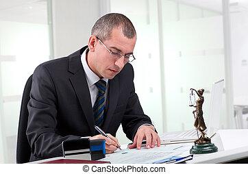 jego, miejsce pracy, prawnik