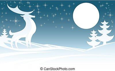 jeleń, boże narodzenie, ilustracja