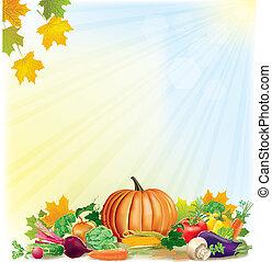 jesień, żniwa, tło