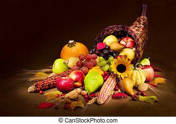 jesień, cornucopia