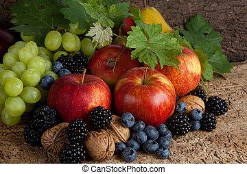 jesień, dziękczynienie, owoce