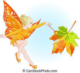 jesień, wróżka