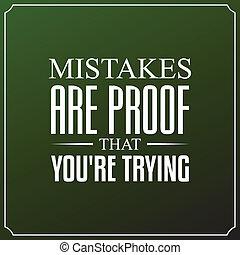 jesteś, typografia, cytuje, błędy, projektować, tło, trying., dowód