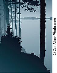 jezioro, czujność