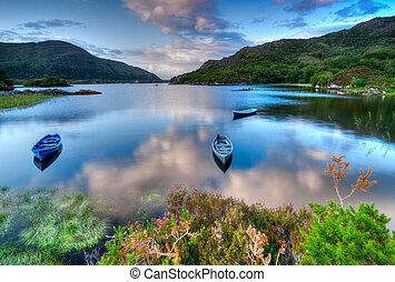 jezioro, irlandia