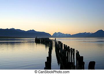 jezioro, patagonia