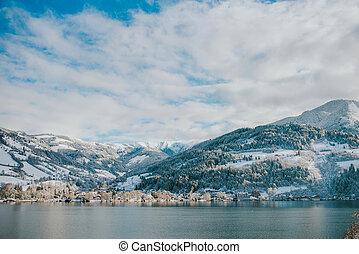 jezioro, zima czas