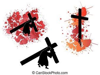 jezus, transport, krzyż
