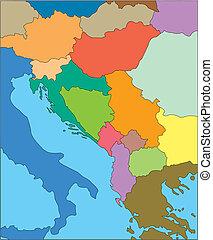 jugosławia, dawny, kraje