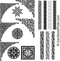 kąty, arabszczyzna, ozdoba, rozdzielacz