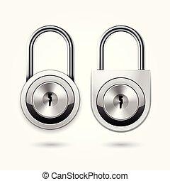 kabiny, ikona, okrągły, kłódka, klucz, szkoła, kabina, płaski, drzwi, -, lok, nowoczesny