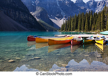 kajaki, morena jezioro