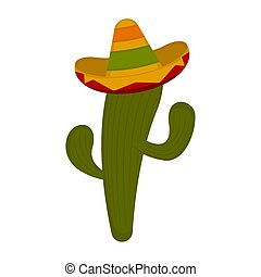 kaktus, sombrero