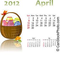 kalendarz, kosze, 2012