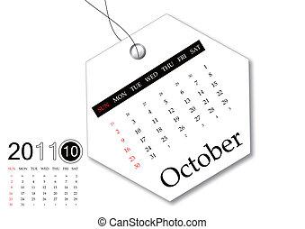 kalendarz, październik, 2011