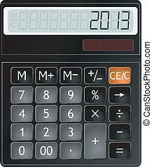 kalkulator, wektor, ilustracja