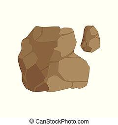 kamień, górny, ilustracja, osłona, wektor, projektować, krajobraz, tło, biały, element, ścieżka, ścieżka, prospekt