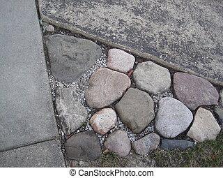 kamień, hdr, ogród