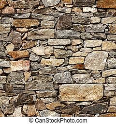 kamień kloce, średniowieczny, ściana, seamless, struktura