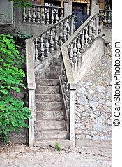 kamień, schody
