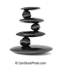 kamienie, waga, pojęcie, zen