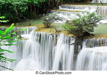 kamin, hua, poziom, woda, mae, 4, upadek, tajlandia, kanchanaburi
