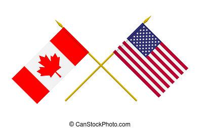 kanada, bandery, usa