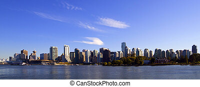 kanada, bc, śródmieście, panoramiczny, vancouver, cityscape