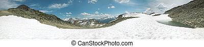 kanada, góry, columbia., brytyjski, panoramiczny, świstak, prospekt.